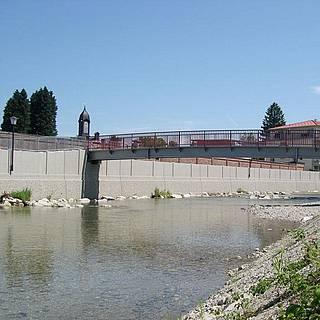 Projekt Hochwasserschutz in Prien mit Erneuerung der Ufermauer
